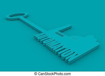 illustration concept, hand holding a key of automation