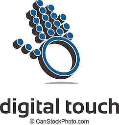 Illustration concept of abstract digital hand . Vector