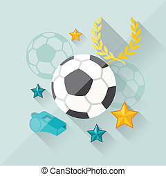 Illustration concept of football in flat design style.