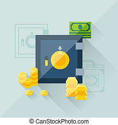Illustration concept of savings in flat design style.