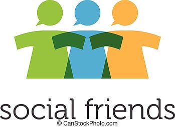 Illustration concept of social network. Vector