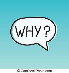 illustration, concept, vecteur, -, question, pourquoi