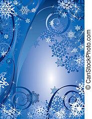 (illustration), conception, flocons neige