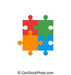 illustration, conception, graphique, vecteur, puzzle