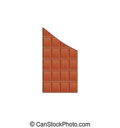 illustration., confectionery., rupture, chocolat, sweet-stuff, vecteur, tile.