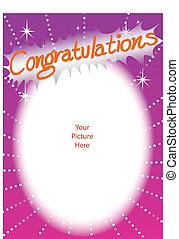 congratulations - illustration congratulations card frame