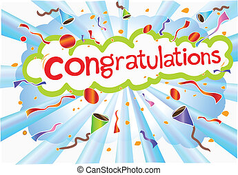 congratulations wording - illustration congratulations...