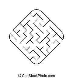 illustration., conundrum., 迷路, 困惑, ゲーム, ベクトル, 容易である, children., maze., kids.