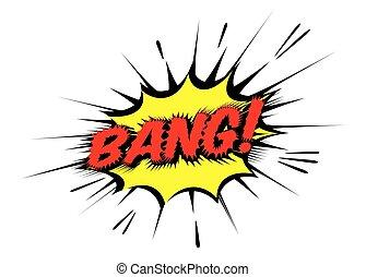 illustration., couleur, bang., vecteur, parole, comique, bulle