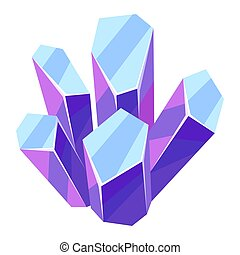 illustration, cristal, mineral., ou