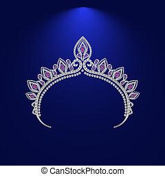 illustration crown diadem tiara