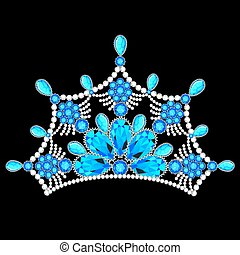 illustration crown tiara women with