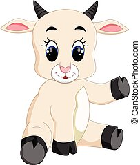 Cute baby goat cartoon