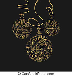 cute christmas composition with balls