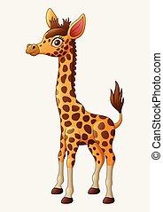 Illustration Cute giraffe cartoon