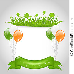 cute nature background for St. Patrick's Day