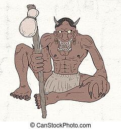 illustration, démon