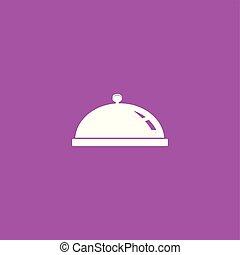 illustration, dîner, isolé, vector., icône