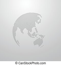 illustration, de, a, globe mondial, carte
