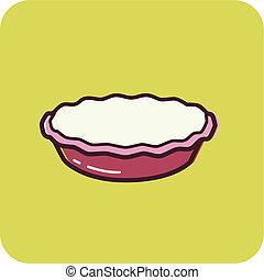illustration, de, a, tarte
