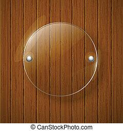 illustration., de madera, resumen, framework., vidrio, ...