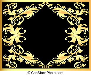 background frame with gold(en) pattern