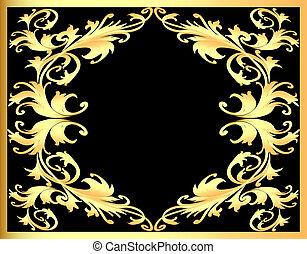background frame with gold(en) pattern