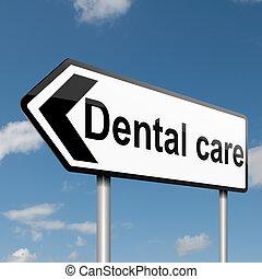 Dental treatment concept.