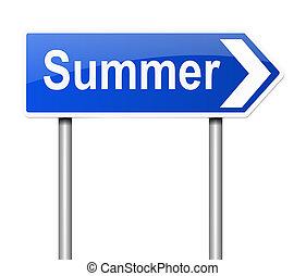 Summer concept.