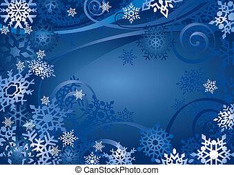 (illustration), desenho, snowflakes
