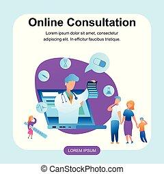 Illustration Doctor Online Consultation Treatment