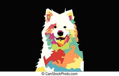 Dog Full COlour - Illustration Dog Full COlour