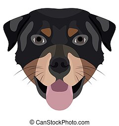 Illustration Dog Rottweiler for the creative use in graphic...