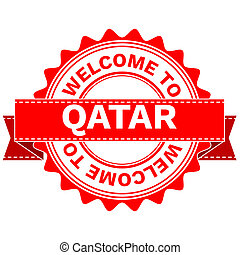 Doodle of WELCOME TO COUNTRY QATAR . JPEG .