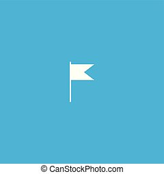 illustration, drapeau, isolé, vector., icône