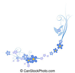 flower - illustration drawing of beautiful flower with vines