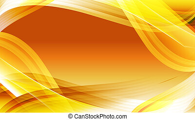 curve background - illustration drawing of beautiful yellow...