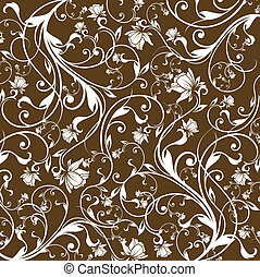 floral background - illustration drawing of floral...