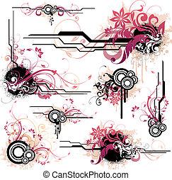 floral design elements - illustration drawing of floral ...