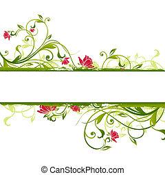 floral frame - illustration drawing of floral frame