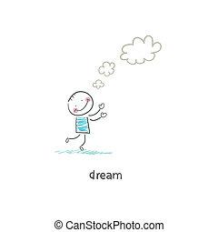 illustration., dreamer.