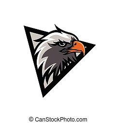 Illustration eagle head mascot logo