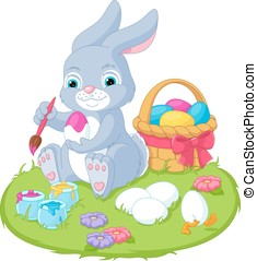 Illustration Easter Rabbit - Illustration Easter Bunny...