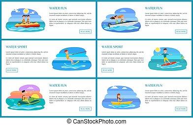 illustration, eau, vecteur, collection, amusement, sport