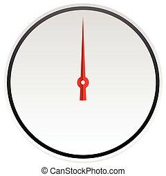 illustration., editable, vecteur, jauge, cercle, cadran, ...