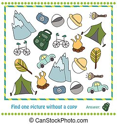 Illustration Educational Game for Children - find picture withuot copy