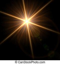 illustration., effect., fény, vektor, fellobbanás,...