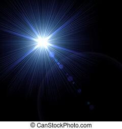 illustration., effect., licht, vektor, leuchtsignal, ...