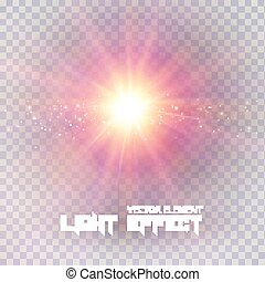 illustration., effet lumière, arrière-plan., vecteur, transparent