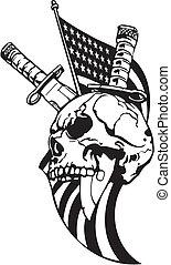 illustration., ejército, -, nosotros, vector, diseño,...